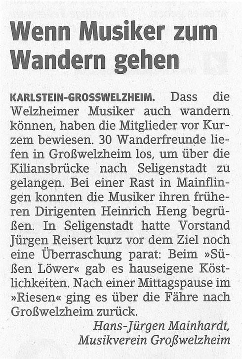 Winterwanderung 2014, Main-Echo v. 31.01.2014