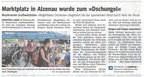 Konzert für Kinder, Unser Echo vom 12.06.2015