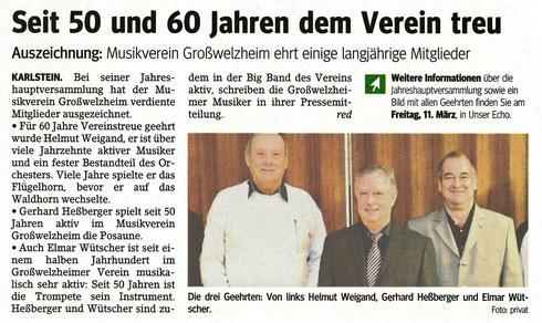 Jahreshauptversammlung MVG 2016, Main-Echo v. 10.03.2016