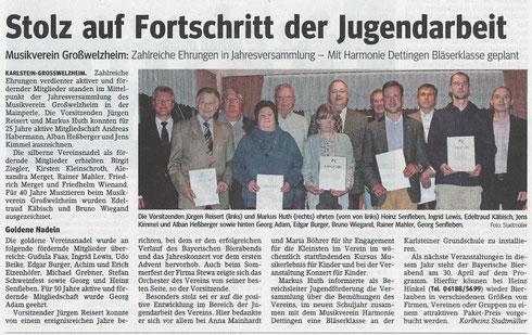 Jahreshauptversammlung 2014, Main-Echo v. 16.04.2014