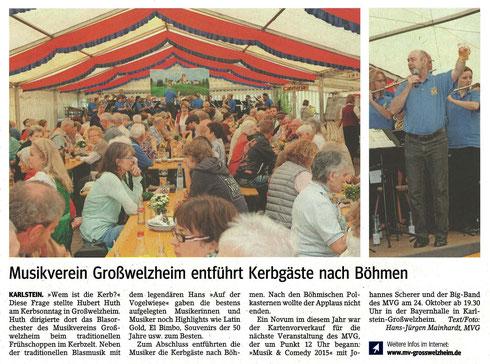 Welzemer Kerb, Main-Echo v. 18.09.2015