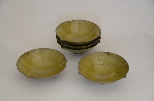 黄瓷 組鉢