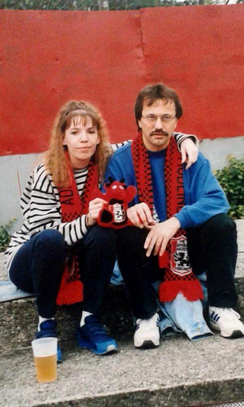 Karo und Josef im Mödlinger Stadion
