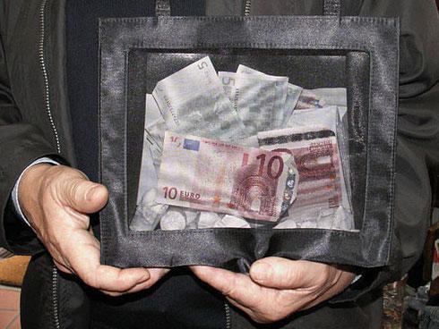 Foto von Geldspende