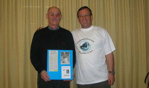 Spendenübergabe Herr Ehrenreich (links) und Herr Zier (rechts)