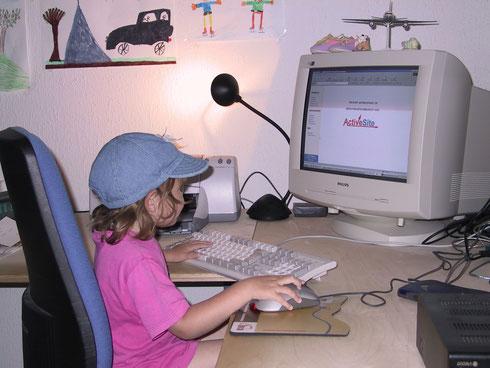 """meine Tochter, die jetzt schon erwachsen ist, """"arbeitet"""" mit meinem Programm..."""