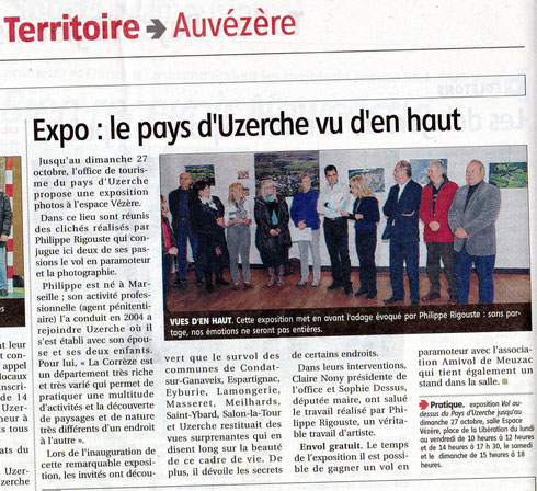 Article de presse exposition photos