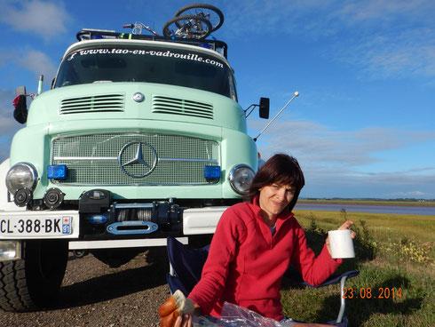petit dej sur la Baie de Fundy
