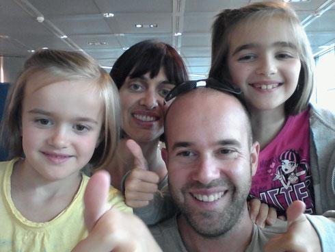 Chiara 5 ans, Bénédicte 34 ans , Anthony 35 ans et Lou 8 ans