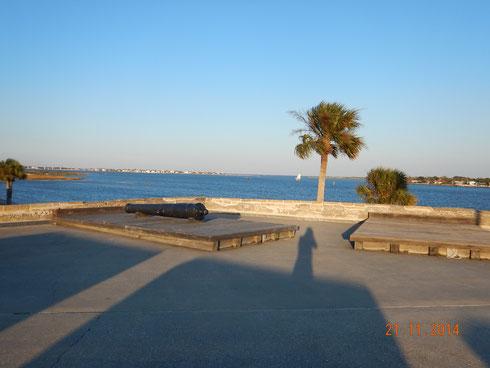 Sur le fort de saint Augustine,  jolie point de vue.