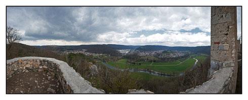 Ausblick von der Ruine Hohengerhausen (Rusenschloss)