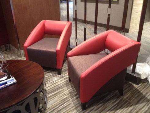 Modern Hotel Lobby Armchairs
