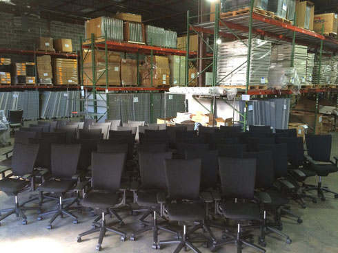 Commercial Office Chairs Reupholstered in Black