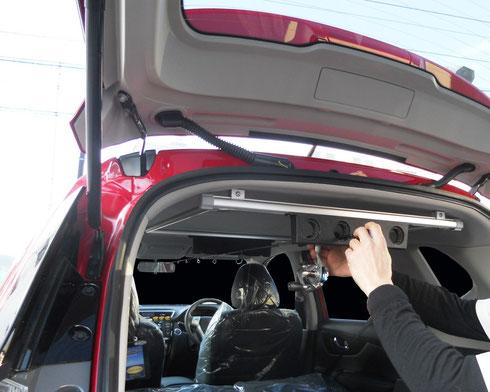 エクストレイル ロッドホルダー 収納 カー用品 車内装アイテム