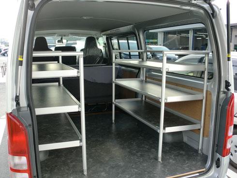 トランポプロとは トランポとは トランポプロ トランポ DIY ボードラック ラック ベッド ベット 内装パーツ 車 カー用品 仕事 棚