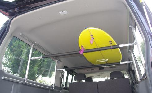 NV350 キャリア トランポ 全面 サーフィン 脚立 荷室キャリア ボードラック