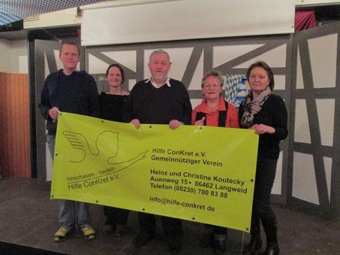 Vorstandschaft des gemeinnützigen Vereins Hilfe ConKret e.V. aus Langweid am Lech