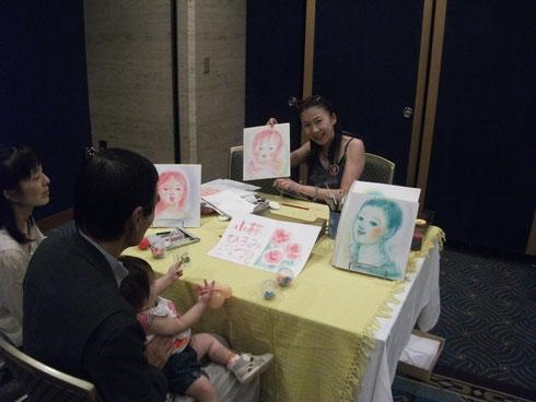 ホテルニューオータニ紀尾井会夏のイベント「似顔絵」