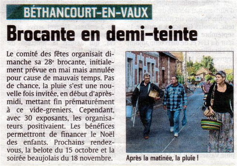 Article de presse : l'Union.