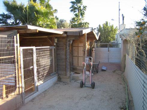 Quarantäne und Klein-Hunde-Bereich