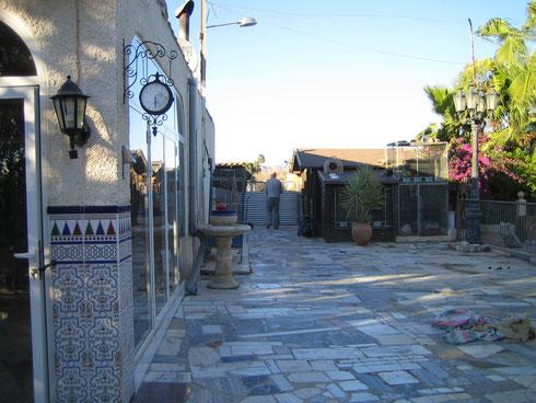 Terrasse mit Blick zum Gehegebereich
