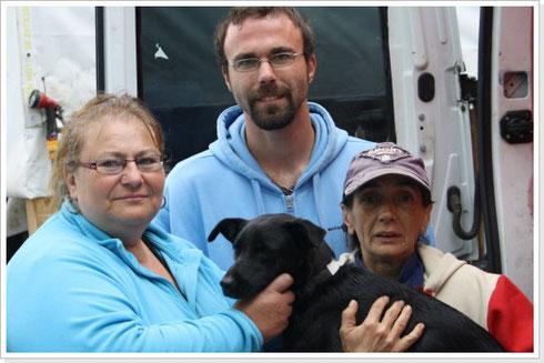 Besuch der Familie Berthold bei Carmen Dodi (rechts)
