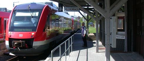 Dreifach-VT 640 in Hilchenbach auf dem Wege nach Berleburg, 2009