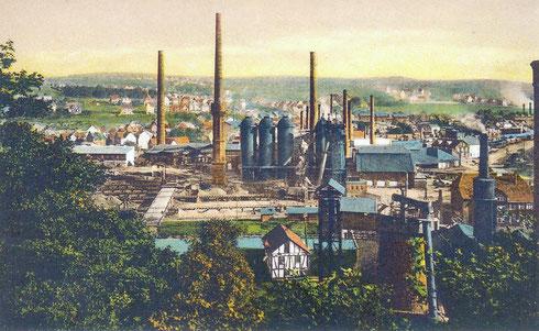 Weidenau 1920: Rolandshütte, gegründet 1867, stillgelegt 1929