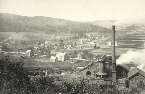 Geisweid 1886: Bremer Hütte, abgebrochen 1931