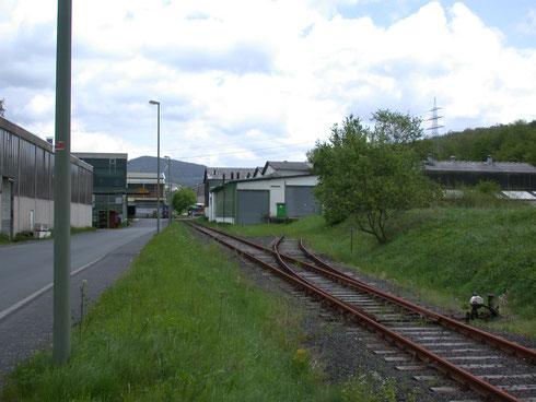 Kein Gleisanschluß mehr in Dreis Tiefenbach (2005)