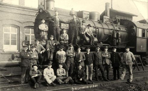 Lok 4942 Elberfeld (preußische G8.1) im Bw Letmathe am 27.09.1920