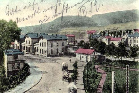 1901: Bahnhof Siegen, noch ohne Strassenbahngleis