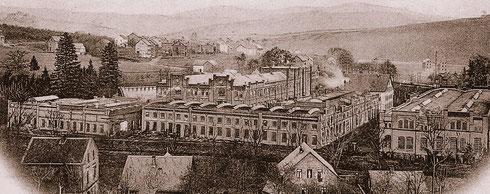 Die Fabrikanlagen um 1905