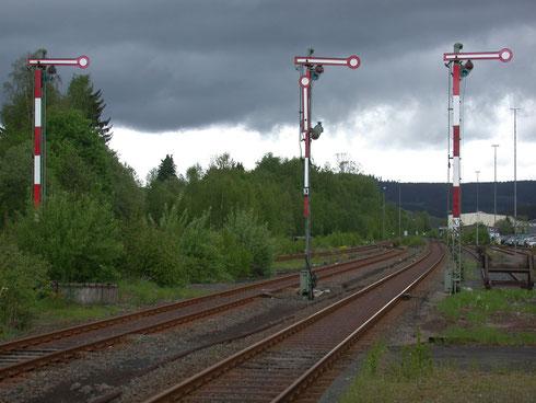 Formsignale im Bahnhof Erndtebrück, 2009