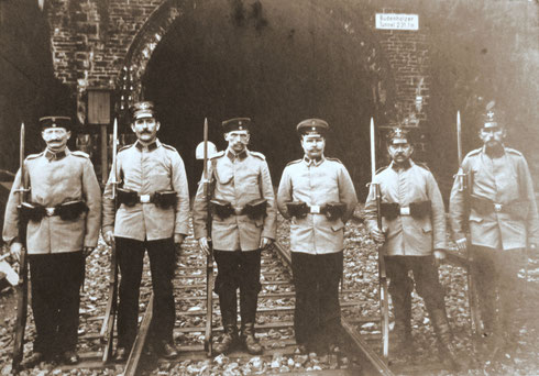1914 Landsturm Siegen Infant Ersatz Bat XVIII-23 in Brachbach am Büdenholzer Tunnel
