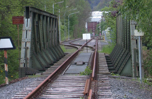 Streckenunterbrechung in Dreis Tiefenbach (2005)