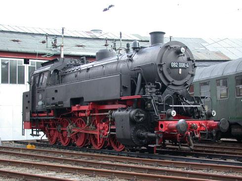 2010: Neubaulok 82 008 im Eisenbahnmuseum Siegen (Aufnahme: Dr. Richard Vogel, Berlin). Die Lok befindet sich inzwischen in Koblenz.