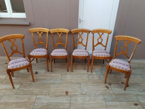 Réfection 6 chaises a lardy dans le 91