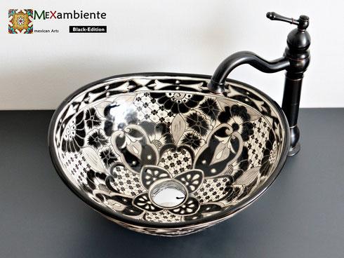 Badezimmer Waschbecken in Schwarz