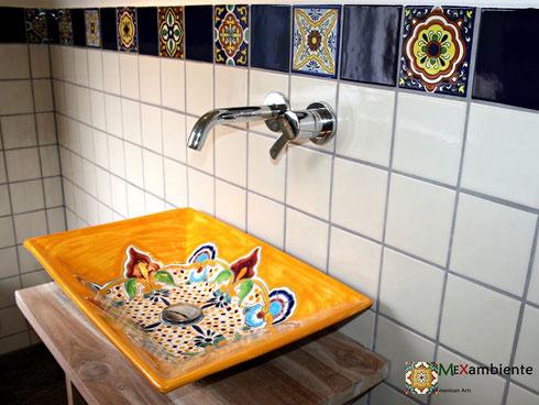 Mexambiente rechteckige Waschbecken