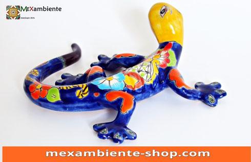 Bunter Gecko handbemalt