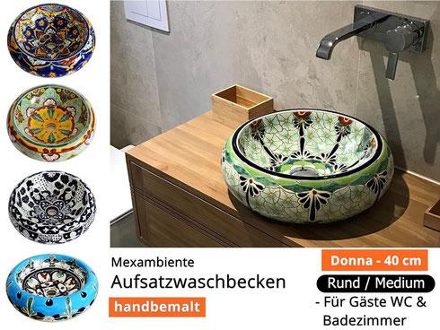 Mexambiente - Aufsatzwaschbecken DONNA