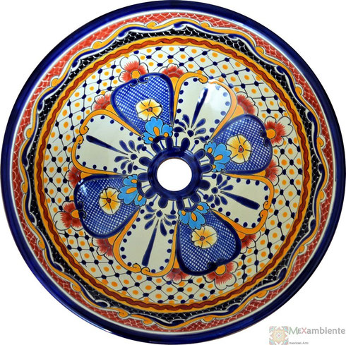 Mexambiente Aufsatzwaschbecken MEX4 - Floral