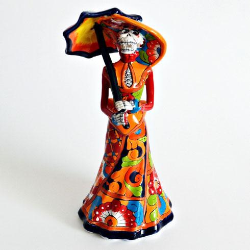 Skeletdame La Catrina aus Mexiko