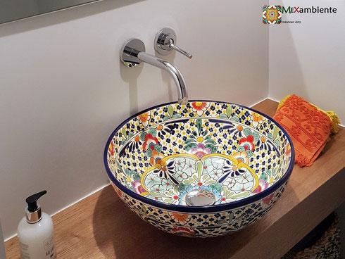Unsere wunderschöne Mexambiente Waschbecken! Ein Hingucker für das Badezimmer oder Gäste-WC