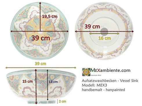 Mexambiente Waschbecken MEX 3 - Details