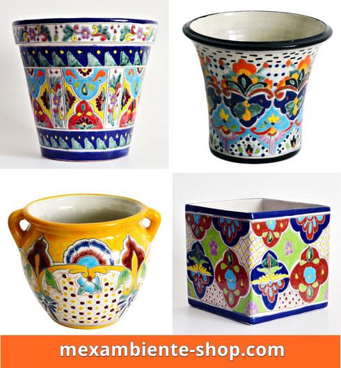 Mexiko Töpfe, Übertöpfe Talavera-Stil