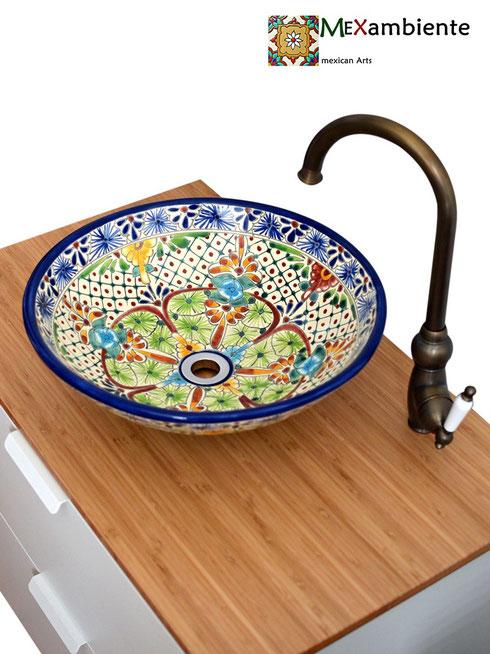 Mexambiente runde Aufsatzwaschbecken