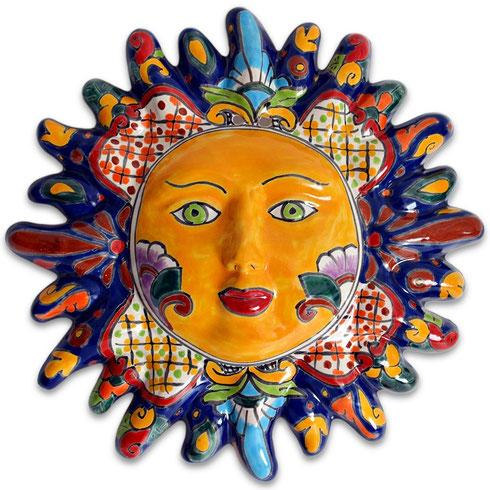 Mexikanische Sonne aus Keramik