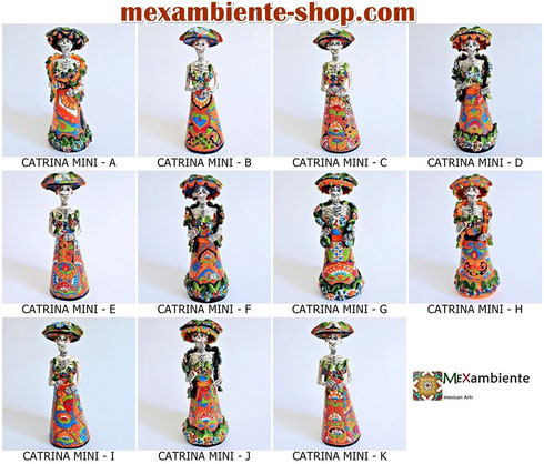 Mexikanische Totenköpfe - La Catrina, hier kaufen